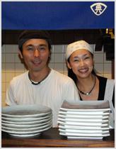 てん屋の店主、奈良さんの写真